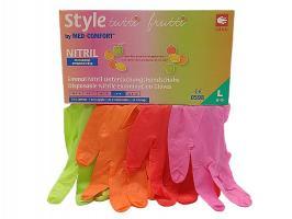 Перчатки Style, Нитрил М, тутти-фрутти, 96шт.