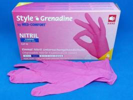 Перчатки Style, Нитрил S, темно-розовые, 100шт.