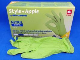 Перчатки Style, Нитрил М, салатовые, 100шт.