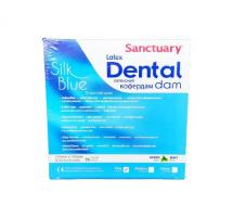 Раббердам платки Sanctuary Dental Dam, голубые thin, 36шт.