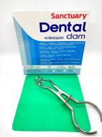 Раббердам платки Sanctuary Dental Dam, зеленые heavy, 36шт.