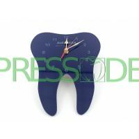 Часы в форме зуба, материал акрил, темно-фиолетовые